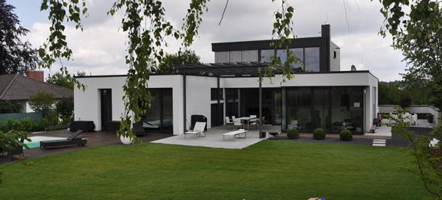 Ein moderner Garten